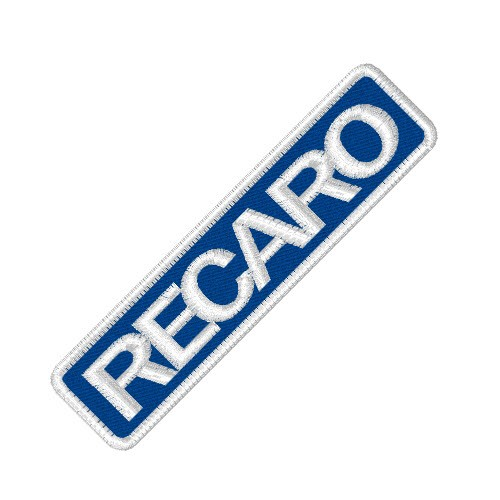 RACING FAN AUFNÄHER PATCH RECARO 8x2cm