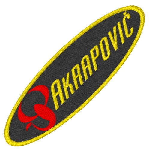 BIKER FAN AUFNÄHER PATCH AKRAPOVIC 10x3cm