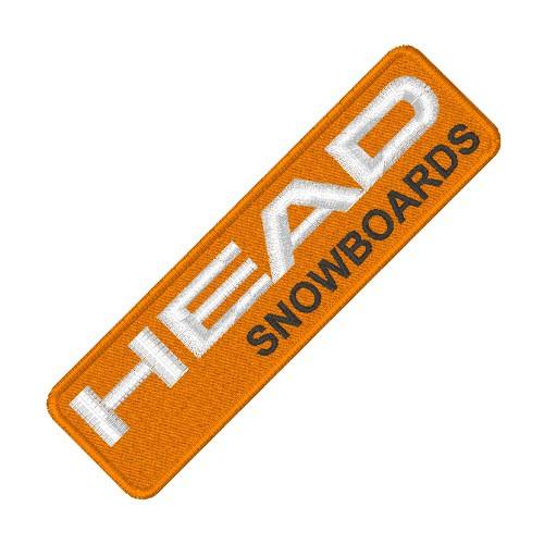 SKI FAN AUFNÄHER PATCH HEAD SNOWBOARDS 10x3cm