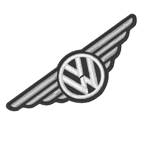 VW WINGS FAN AUFNÄHER PATCH VOLKSWAGEN 15x5cm