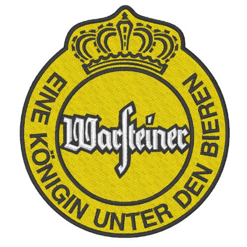 BEER FAN AUFNÄHER PATCH WARSTEINER 10x11cm