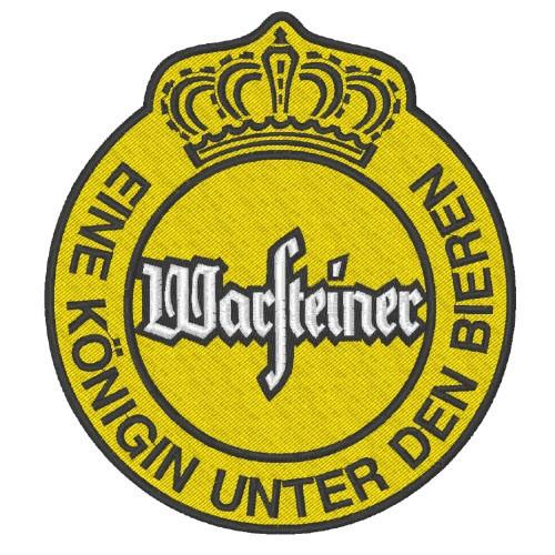 BEER FAN AUFNÄHER PATCH WARSTEINER 10x11cm