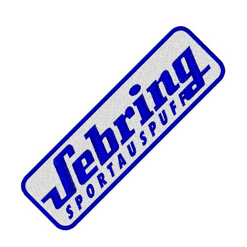 RACING FAN AUFNÄHER PATCH SEBRING SPORTAUSPUFF 13x4cm