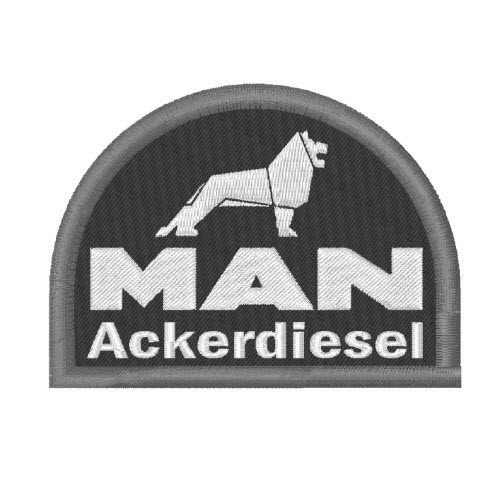 TRAKTOR FAN AUFNÄHER PATCH MAN ACKERDIESEL 8x6cm