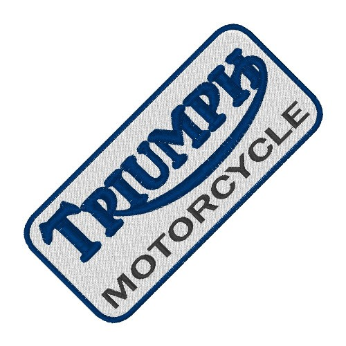 BIKER FAN AUFNÄHER PATCH TRIUMPH MOTORCYCLE 10x4,5cm