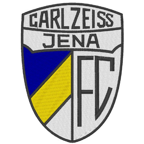 Fußball Aufnäher FC CARLZEISS JENA 7,5x10cm
