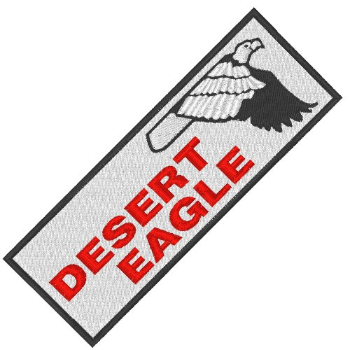 GUN PISTOLE FAN AUFNÄHER PATCH DESERT EAGLE 10x3,5cm
