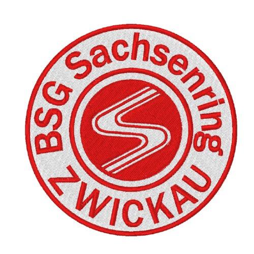 Fußball Aufnäher BSG SACHSENRING ZWICKAU D=8cm