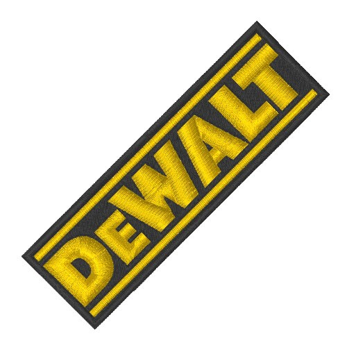 RACING TUNING KART AUFNÄHER PATCH DeWALT 10x3cm