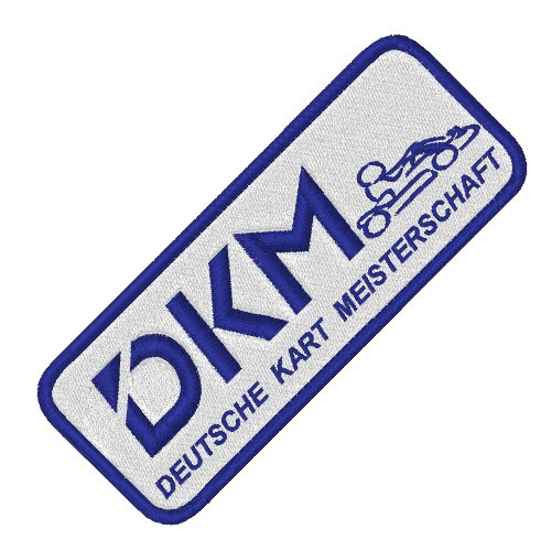 DKM KART TUNING RACING AUFNÄHER PATCH 10x4cm