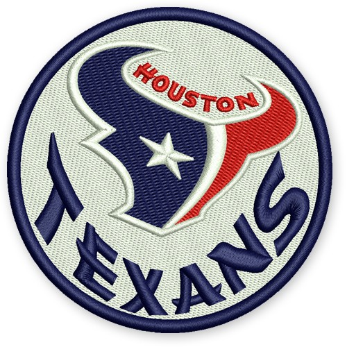 NFL FOOTBALL AUFNÄHER PATCH HOUSTON TEXANS D=8cm