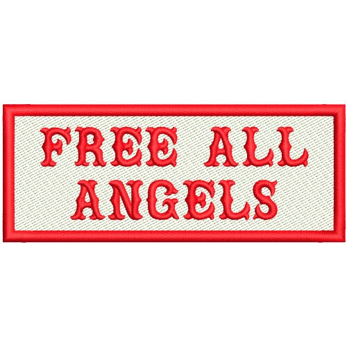 FREE ALL ANGELS BIKER PATCH AUFNÄHER 10x4cm