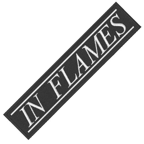 IN FLAMES MUSIK BAND PATCH AUFNÄHER 10x2,3cm