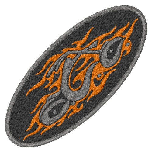 ORANGE COUNTY CHOPPERS BIKER PATCH AUFNÄHER 10x4,5cm