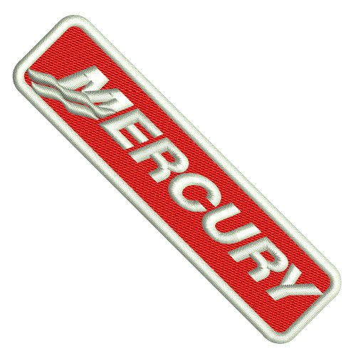MERCURY SPORT BOOT RACING MOTOR PATCH AUFNÄHER 10x2,5cm
