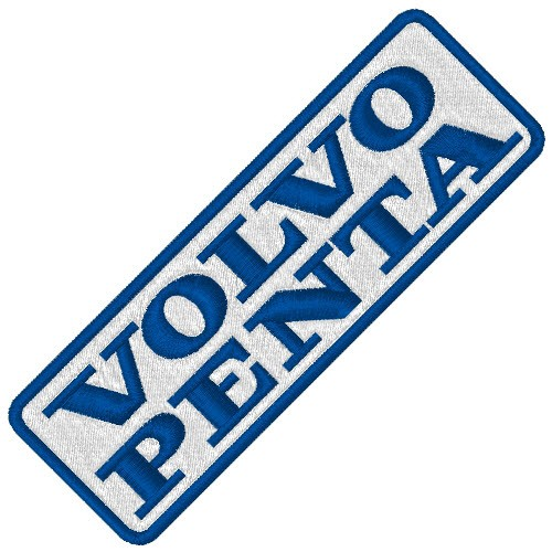 VOLVO PENTA SPORT BOOT RACING PATCH AUFNÄHER 9x3cm