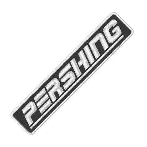 PERSHING MOTOR YACHT RACING PATCH AUFNÄHER 10x2cm