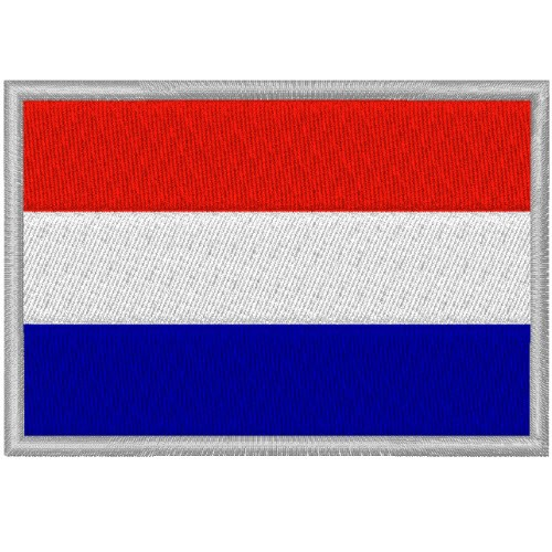 HOLLAND FAHNE FLAG 100 gest. PATCH AUFNÄHER 8x5,5cm