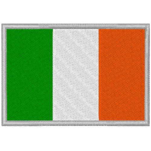 IRLAND FAHNE FLAG 100 gest. PATCH AUFNÄHER 8x5,5cm