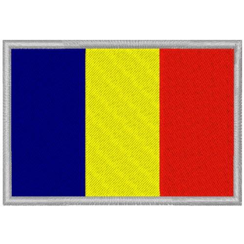 RUMÄNIEN ROMANIA FAHNE FLAG PATCH AUFNÄHER 8x5,5cm