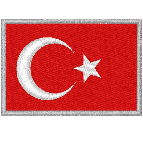 TÜRKEI TURKEY FAHNE FLAG PATCH AUFNÄHER 8x5,5cm