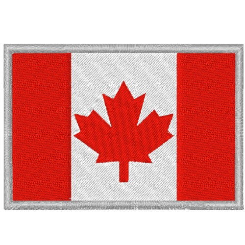 CANADA FAHNE FLAG 100 gest. PATCH AUFNÄHER 8x5,5cm