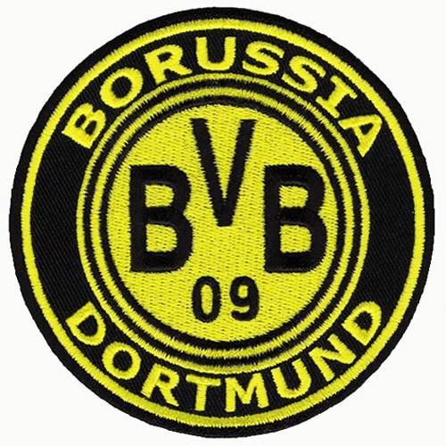 Fußball FUSSBALL AUFNÄHER PATCH BORUSSIA DORTMUND BVB D=9cm