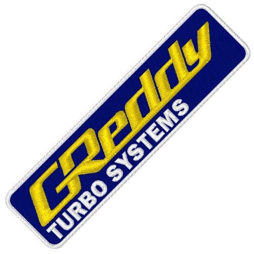 GREDDY TURBO SYSTEMS RACING PATCH AUFNÄHER 8x2,5cm