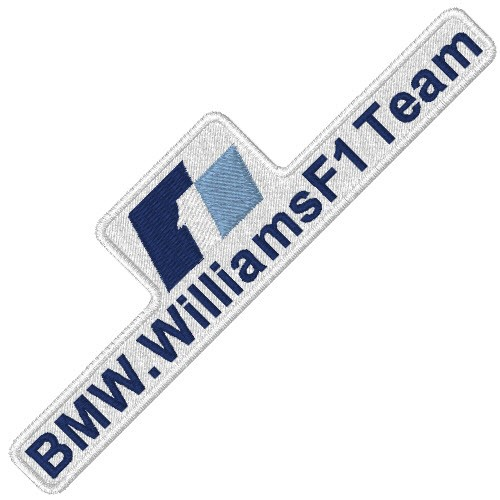 F1 BMW WILLIAMS RALLY RACING PATCH AUFNÄHER 10x3cm