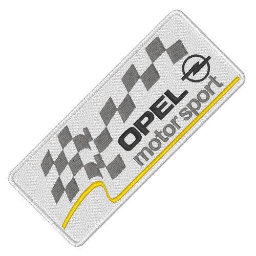 OPEL MOTOR SPORT RALLY RACING PATCH AUFNÄHER 10x4,5cm