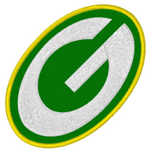 NFL AUFNÄHER PATCH FOOTBALL GREEN BAY 8x5cm