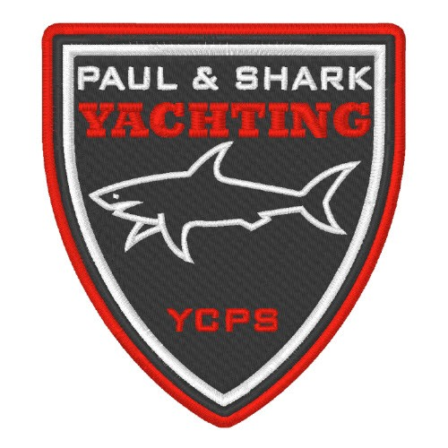 PAUL & SHARK YACHTING WAPPEN AUFNÄHER PATCH 8x6cm