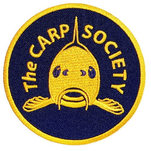 GERMAN CARP SOCIETY FISHING PATCH AUFNÄHER D=8cm