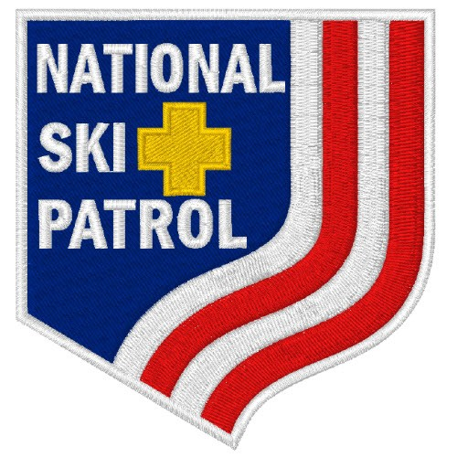 NATIONAL SKI PATROL AUFNÄHER APPLICATION PATCH 7,6x8cm