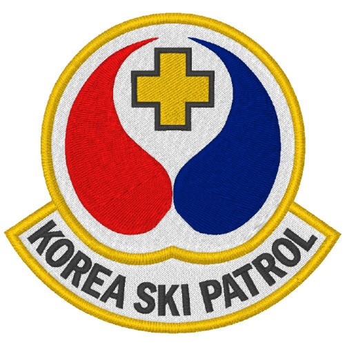 KOREA SKI PATROL AUFNÄHER APPLICATION PATCH 8x7,6cm
