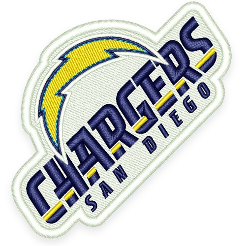 SAN DIEGO CHARGERS FOOTBALL AUFNÄHER PATCH 10x3,4cm