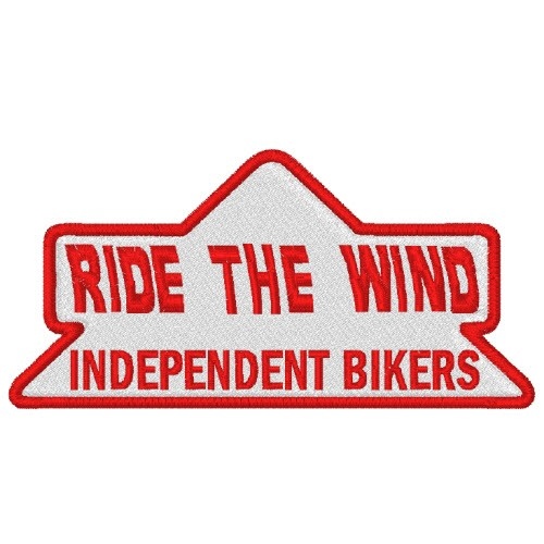 BIKER MOTORRAD AUFNÄHER PATCH RIDE THE WIND 9x4,5cm