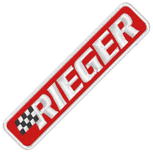RACING TUNING KART AUFNÄHER PATCH RIEGER 10x2,2cm