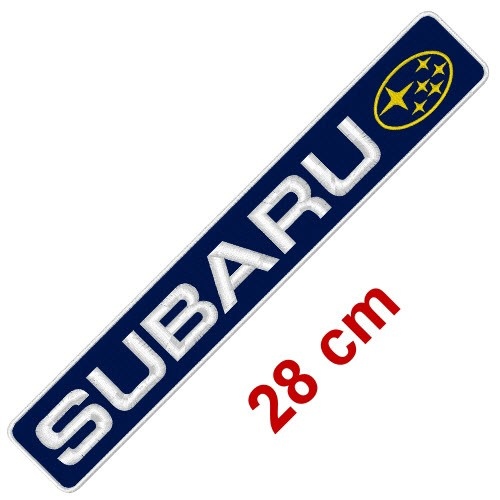 BIG CAR AUTO RACING AUFNÄHER PATCH SUBARU 28x5cm