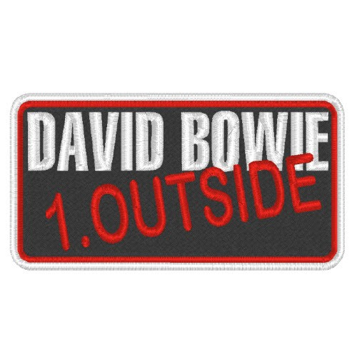 MUSIC MUSIK BAND AUFNÄHER PATCH DAVID BOWIE 8x4,5cm
