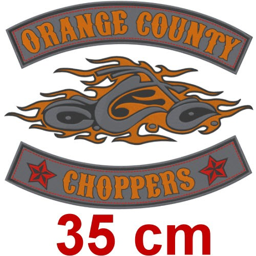 BIG ORANGE COUNTY CHOPPERS ANGELS AUFNÄHER PATCH 35cm