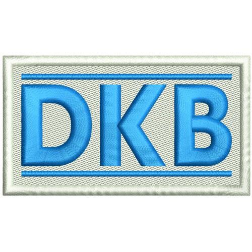 Sport SKI FAN AUFNÄHER PATCH DKB 8x4,5cm