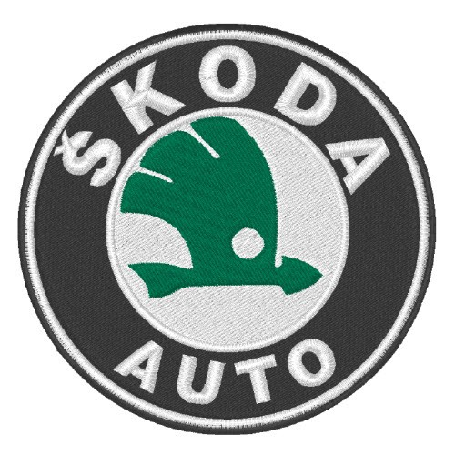 SKODA CAR RACING TUNING AUFNÄHER PATCH D=8cm