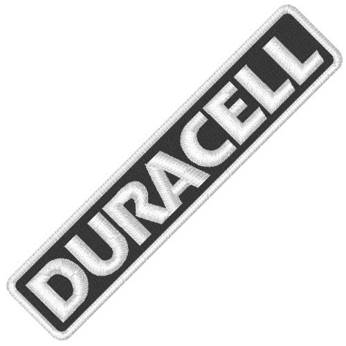 DURACELL RALLY RACING PATCH AUFNÄHER APLIKATION 10x2cm