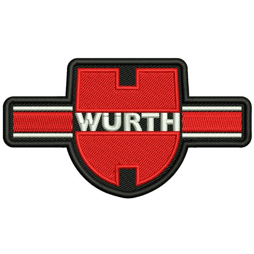 WÜRTH RALLY RACING PATCH AUFNÄHER APLIKATION 10x6cm