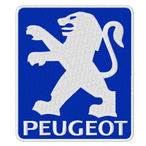 PEUGEOT RACING RALLY PATCH AUFNÄHER APLIKATION 7x8cm