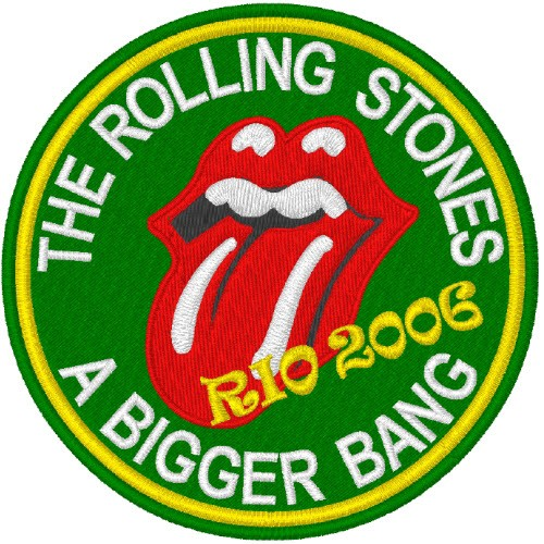 ROLLING STONES A BIGGER BANG RIO2006 AUFNÄHER PATCH 8cm