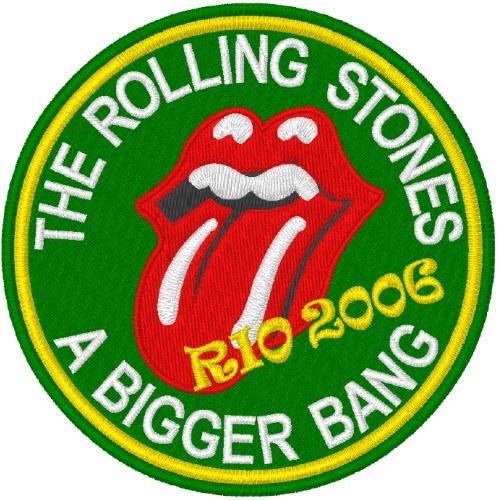 ROLLING STONES A BIGGER BANG RIO2006 AUFNÄHER PATCH 8cm