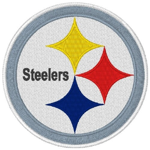PITTSBURGH STEELERS FOOTBALL AUFNÄHER PATCH D=6,4cm