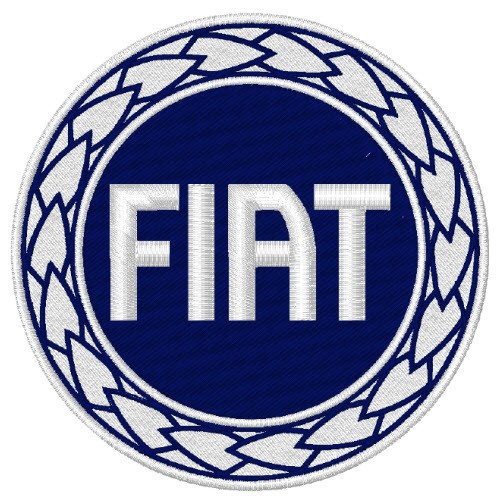 FIAT TRUCK AUTO RACING RALLY FAN AUFNÄHER PATCH D=8cm